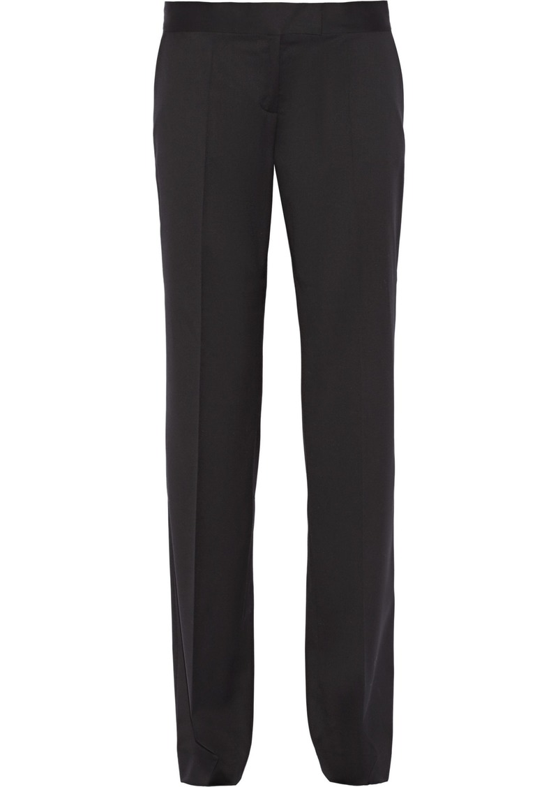 Stella Mccartney Woman Jasmine Wool-twill Straight-leg Pants Black