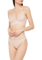 Stella Mccartney Woman Jo Swinging Stretch-lace And Jersey Bralette Blush