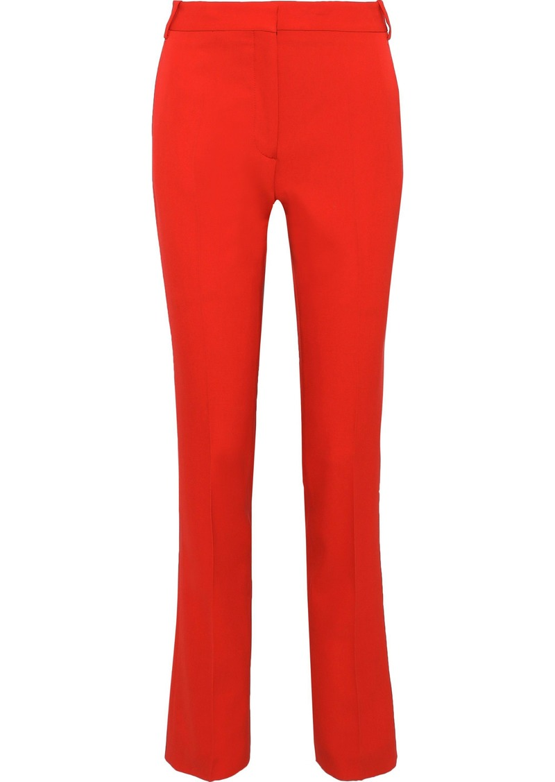 Stella Mccartney Woman Jodi Wool-twill Slim-leg Pants Papaya