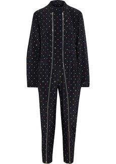 Stella Mccartney Woman Kiera Zip-detailed Printed Silk Crepe De Chine Jumpsuit Black