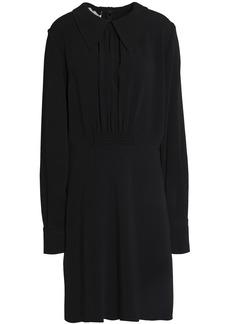 Stella Mccartney Woman Gathered Crepe Shirt Dress Black