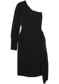 Stella Mccartney Woman One-shoulder Satin Dress Black
