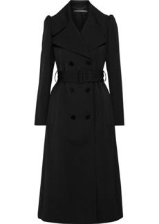 Stella Mccartney Woman Kristen Wool-gabardine Trench Coat Black