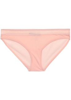 Stella Mccartney Woman Grace Glowing Mesh-trimmed Stretch-jersey Low-rise Briefs Blush