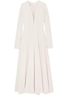 Stella Mccartney Woman Lace-up Cady Maxi Dress Cream