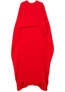 Stella Mccartney Woman Layered Crepe Gown Tomato Red