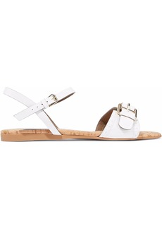 Stella Mccartney Woman Linda Buckled Faux Patent-leather Sandals White