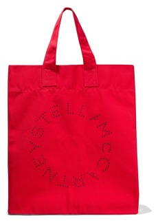 Stella Mccartney Woman Logo-print Cotton-canvas Tote Red
