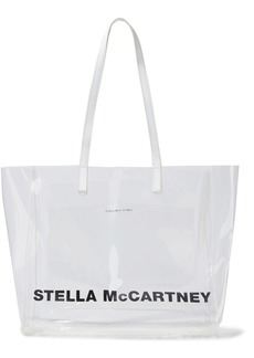 Stella Mccartney Woman Logo-print Pvc Tote Clear