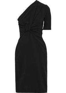 Stella Mccartney Woman Maia One-shoulder Twist-front Stretch-crepe Dress Black