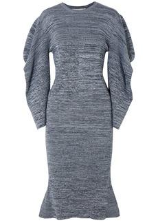 Stella Mccartney Woman Marled Cotton Dress Blue