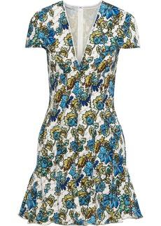 Stella Mccartney Woman Mertie Ruffle-trimmed Floral-print Jersey Mini Dress Off-white