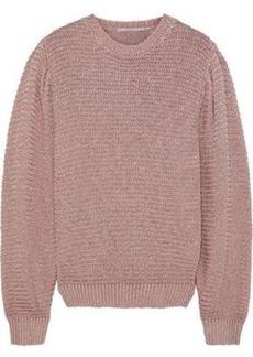 c853d47e1c0 Stella Mccartney Woman Metallic Open-knit Sweater Antique Rose