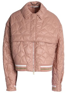 Stella Mccartney Woman Metallic-trimmed Quilted Shell Jacket Antique Rose
