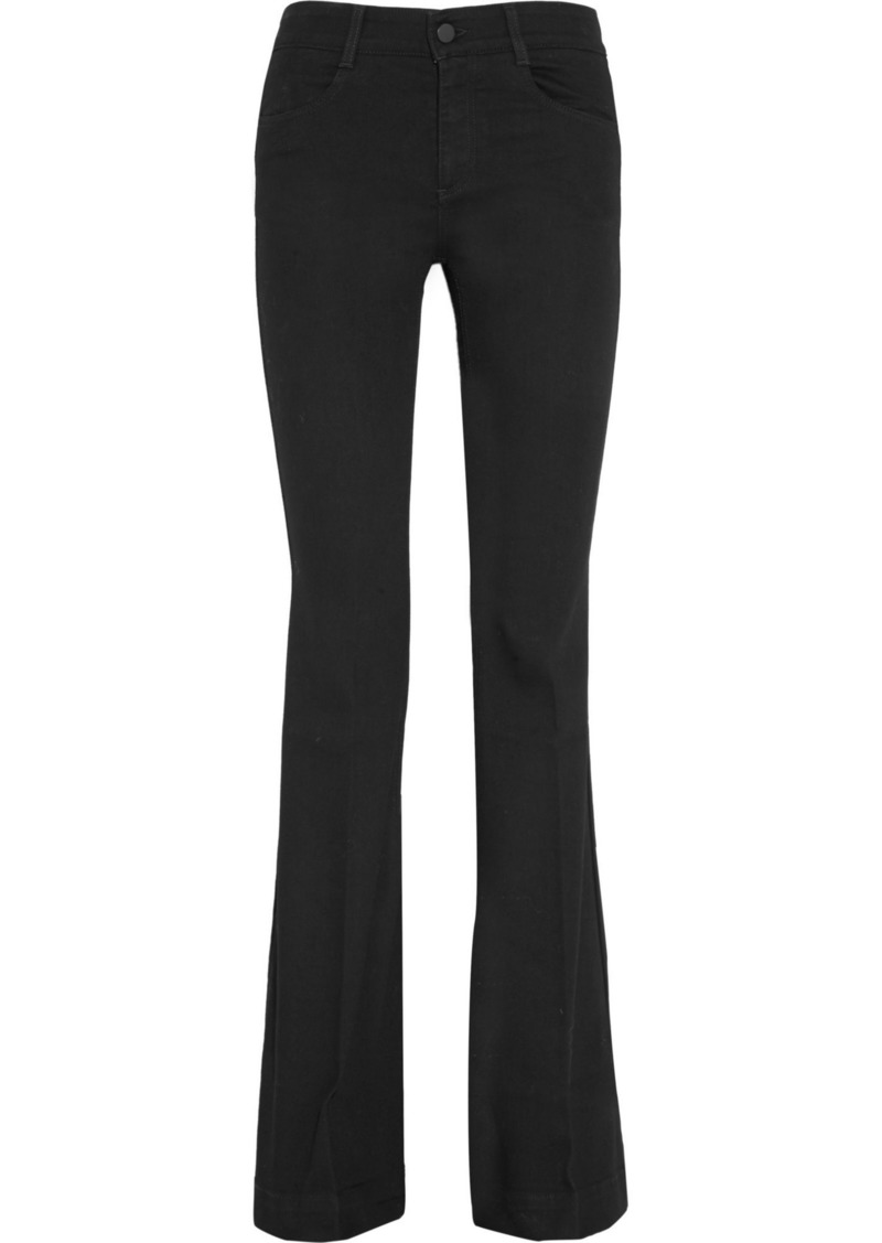 Stella Mccartney Woman Mid-rise Flared Jeans Black
