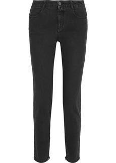 Stella Mccartney Woman Mid-rise Skinny Jeans Charcoal