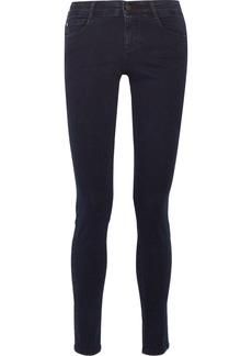Stella Mccartney Woman Mid-rise Skinny Jeans Dark Denim