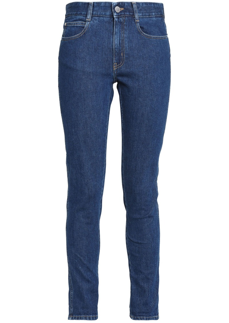 Stella Mccartney Woman Mid-rise Slim-leg Jeans Mid Denim