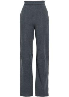 Stella Mccartney Woman Mélange Wool Straight-leg Pants Gray