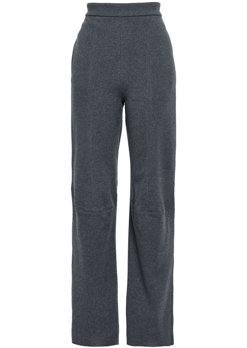 Stella Mccartney Woman Mélange Wool Straight-leg Pants Gray
