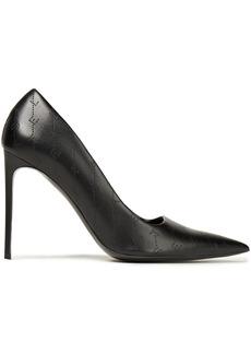 Stella Mccartney Woman Monogram Perforated Faux Leather Pumps Black