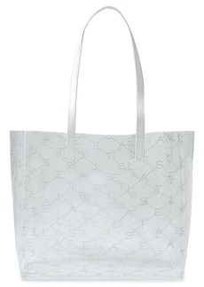 Stella Mccartney Woman Faux Leather-trimmed Printed Pu Tote Clear