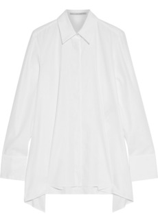 Stella Mccartney Woman Mullewa Asymmetric Cotton Oxford Shirt White