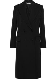 Stella Mccartney Woman Nathaly Double-breasted Wool-gabardine Coat Black