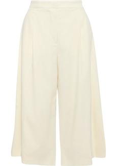 Stella Mccartney Woman Oliver Pleated Wool Culottes Ivory