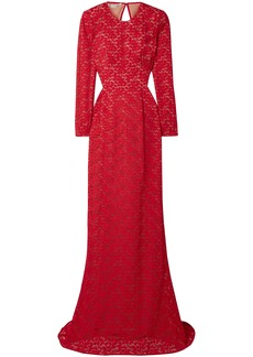 Stella Mccartney Woman Open-back Corded Lace Gown Red