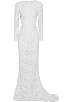 Stella Mccartney Woman Open-back Corded Lace Gown White