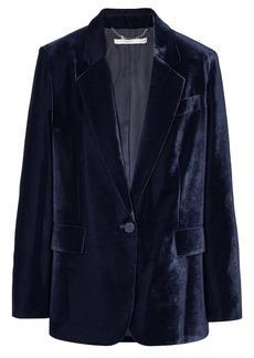 Stella Mccartney Woman Oversized Velvet Blazer Navy