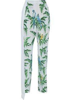 Stella Mccartney Woman Padma Paradise Printed Silk Crepe De Chine Straight-leg Pants Sky Blue