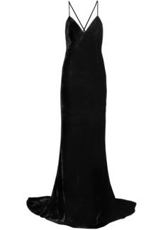 Stella Mccartney Woman Open-back Velvet Gown Black