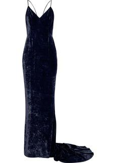 Stella Mccartney Woman Paulina Velvet Gown Midnight Blue