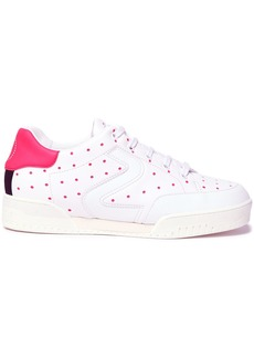 Stella Mccartney Woman Perforated Faux Leather Sneakers White