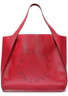 Stella Mccartney Woman Perforated Faux Leather Tote Claret