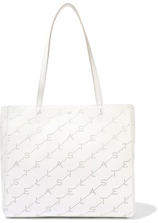 Stella Mccartney Woman Perforated Faux Leather Tote White