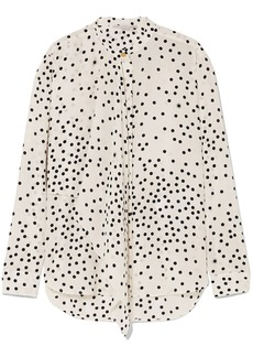 Stella Mccartney Woman Polka-dot Silk-georgette Blouse White