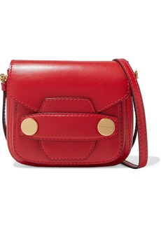 Stella Mccartney Woman Popper Mini Studded Faux Leather Shoulder Bag Tomato Red