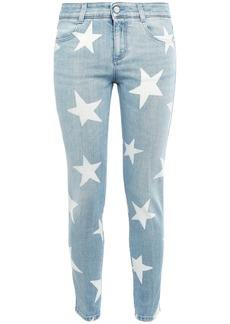 Stella Mccartney Woman Printed Low-rise Skinny Jeans Light Denim
