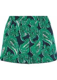 Stella Mccartney Woman Printed Stretch-silk Pajama Shorts Green