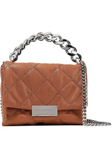Stella Mccartney Woman Quilted Brushed Faux Leather Shoulder Bag Brown