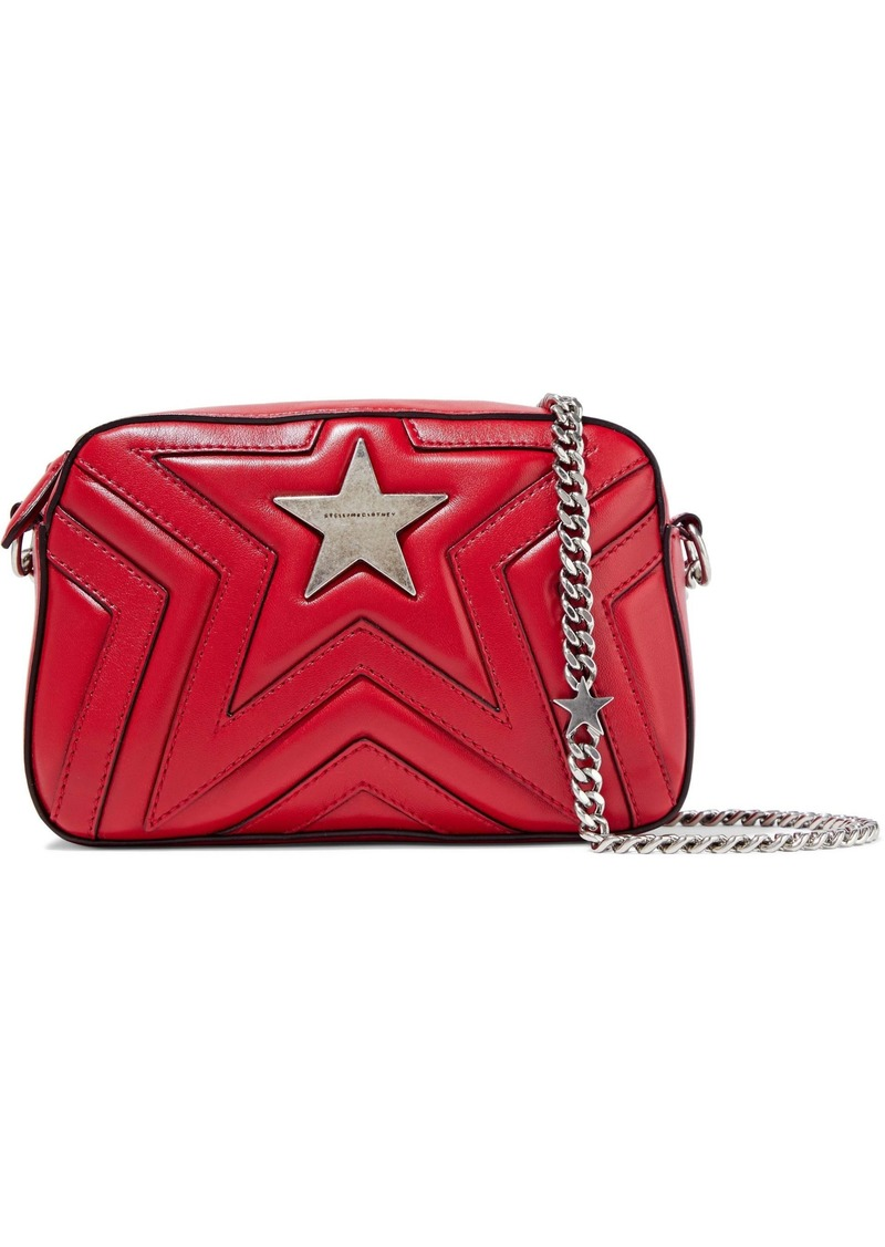 Stella Mccartney Woman Quilted Faux Leather Shoulder Bag Red