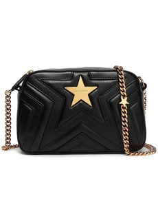 Stella Mccartney Woman Quilted Faux Leather Shoulder Bag Black