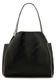 Stella Mccartney Woman Falabella Reversible Perforated Faux Leather Tote Black