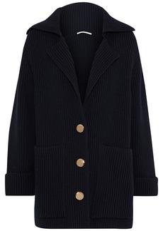Stella Mccartney Woman Ribbed Wool Cardigan Midnight Blue