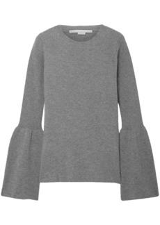 Stella Mccartney Woman Ribbed Wool Sweater Gray