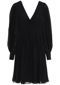 Stella Mccartney Woman Ruched Silk-georgette Mini Dress Black