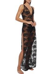 Stella Mccartney Woman Sienna Sparkling Stretch-lace Nightdress Black